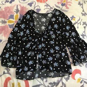 Topshop black blouse!